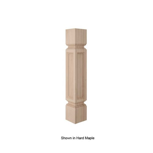 Brown Wood Madeline Traditional Column Unfinished Walnut 01100218WL1