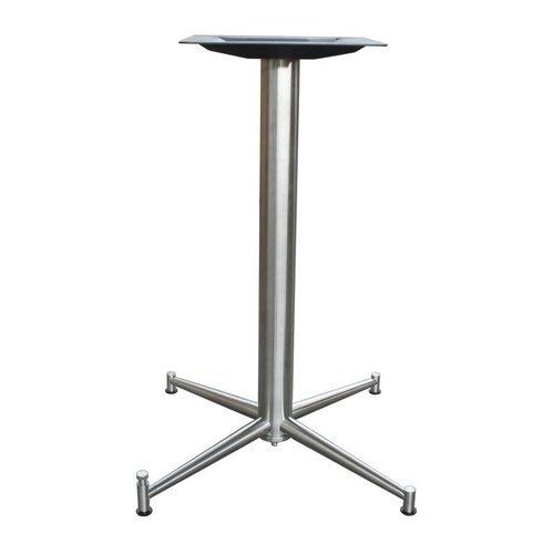 Peter Meier 25 inch x 25 inch Four Leg Table Base - Stainless Steel 42-1/2 inch H 7425-43-SS