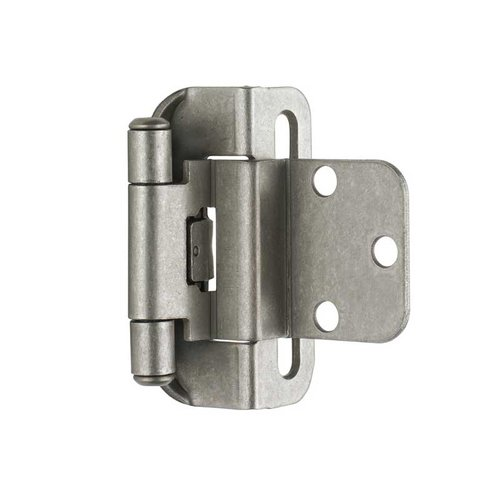 Amerock Partial Wrap 3/8 inch Inset Hinge Weathered Nickel - Per Pair BPR7565WN