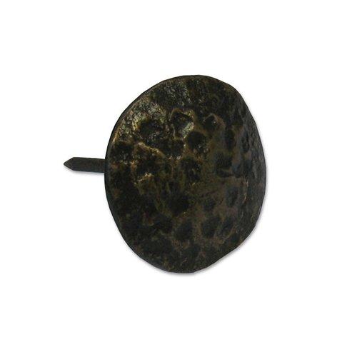 Gado Gado Hammered Round Clavo 1-1/8 inch Diameter - Antique Brass HCL1132