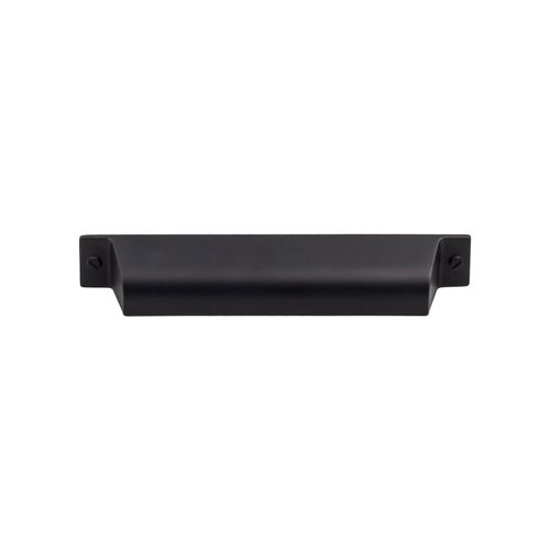 Top Knobs Barrington 5 Inch Center to Center Flat Black Cabinet Cup Pull TK774BLK