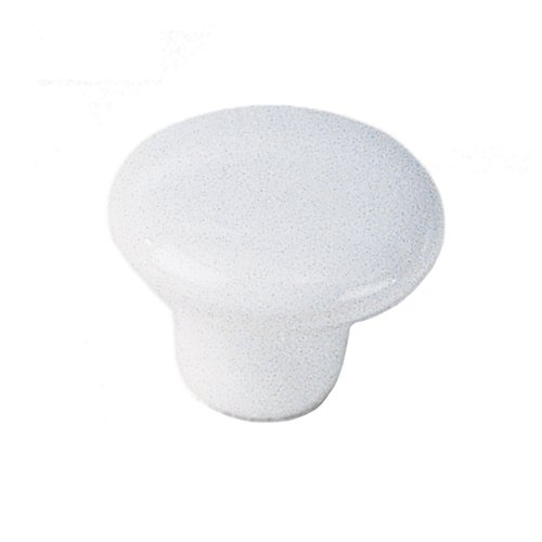 White Porcelain 1-1/4 Inch Diameter White Cabinet Knob <small>(#02942)</small>