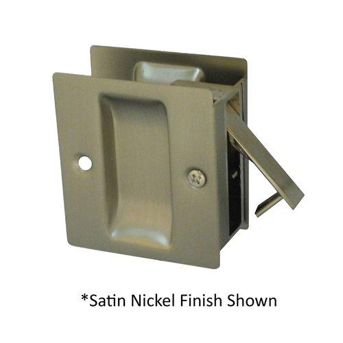 """Don-Jo Pocket Door Lock Passage 2-1/2"""" X 2-3/4"""" Satin Nickel Black PDL-100-620"""