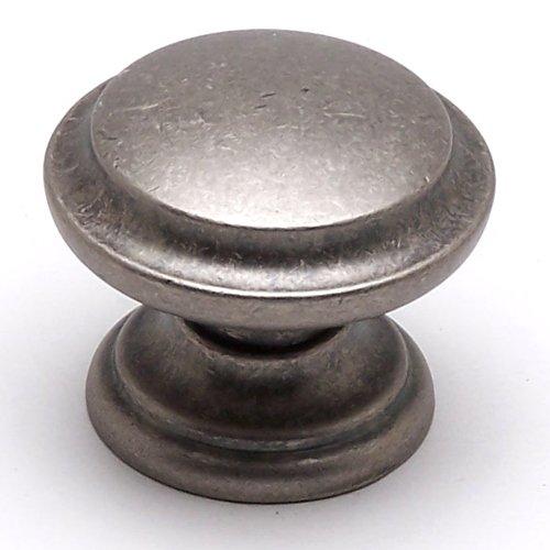 Berenson Euro Rustica 1-3/8 Inch Diameter Rustic Nickel Cabinet Knob 2976-1RN-C