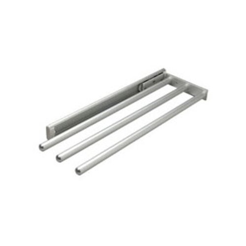 Hafele Silver Finish 3 Bar Towel Rack 510.54.932