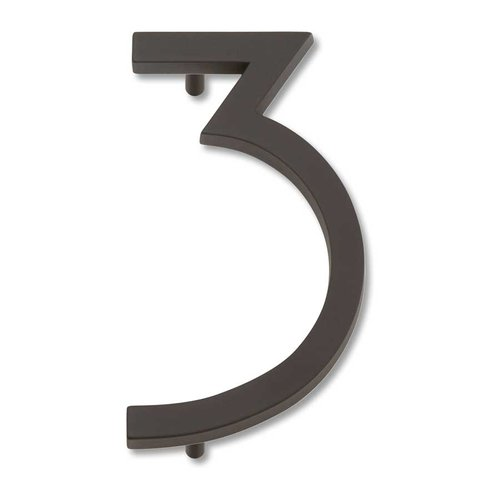 Modern Avalon House Number Three Aged Bronze <small>(#AVN3-O)</small>