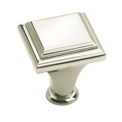 Manor 1 Inch Diameter Polished Nickel Cabinet Knob <small>(#BP26131PN)</small>
