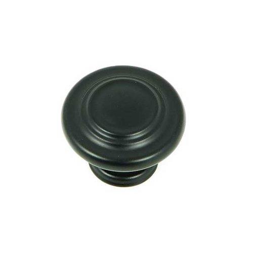 Stone Mill Hardware Princeton 1-1/4 Inch Diameter Matte Black Cabinet Knob CP1398-MB