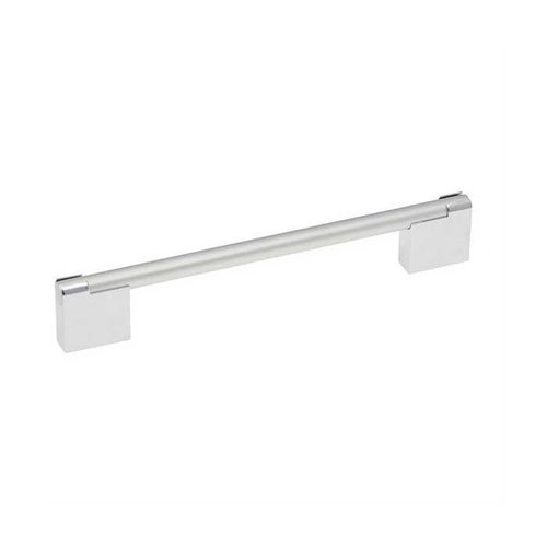 Hickory Hardware Mito 6-5/16 Inch Center to Center Chrome & Satin Pearl Cabinet Pull P3700-CHSP