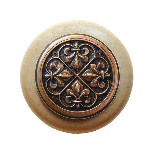 Notting Hill Olde World 1-1/2 Inch Diameter Antique Copper Cabinet Knob NHW-760N-AC