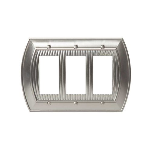 Amerock Allison Three Rocker Walll Plate Satin Nickel BP36534G10