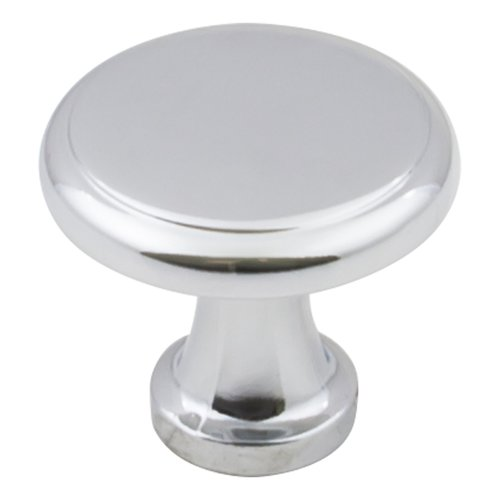"Elements by Hardware Resources Gatsby Cabinet Knob 1-1/8"" Dia Polished Chrome 3970-PC"
