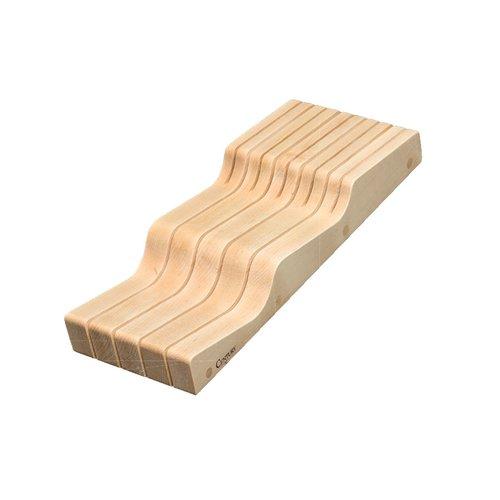 Century Components Wave Knife Block 5-5/8 inch W Maple WKB55PF