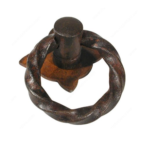 Richelieu Forged Iron 1-9/16 Inch Diameter Rust Cabinet Ring Pull 240240800