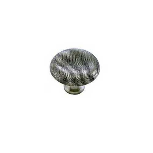 MNG Hardware Vanilla 1-1/2 Inch Diameter Satin Antique Nickel Cabinet Knob 16621