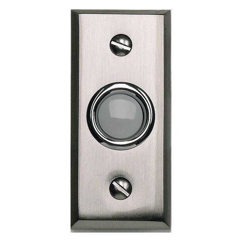 Atlas Homewares Mission Lighted Doorbell Button Brushed Nickel DB644-BRN