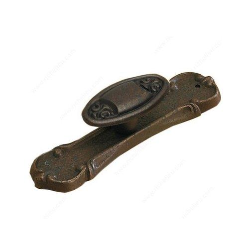 Richelieu Art Deco 15/16 Inch Diameter Spotted Bronze Cabinet Knob 61612595138