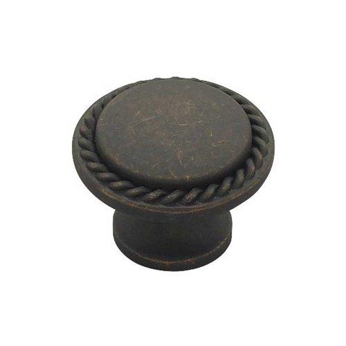 Liberty Hardware Contempo 1-3/16 Inch Diameter Distressed Oil Rubbed Bronze Cabinet Knob PN0293-OB-C