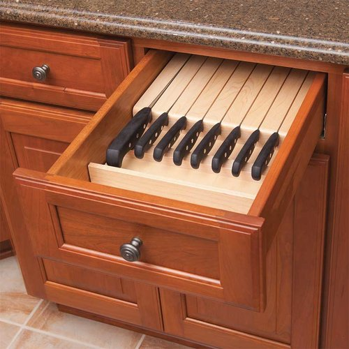 "Century Components 11 Slot Trimmable Knife Block 12-1/4"" Wide KB12PF"