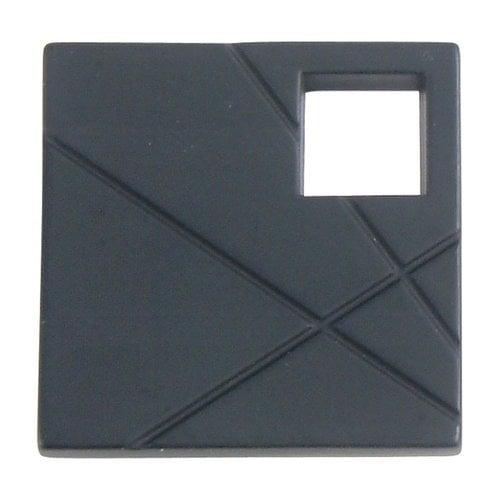 Atlas Homewares Modernist Knob 1-1/2 inch Diameter Matte Black 251L-BL