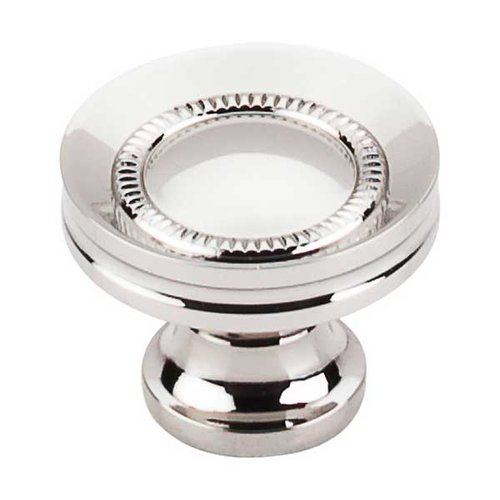 Top Knobs Asbury 1-1/4 Inch Diameter Polished Nickel Cabinet Knob M1325