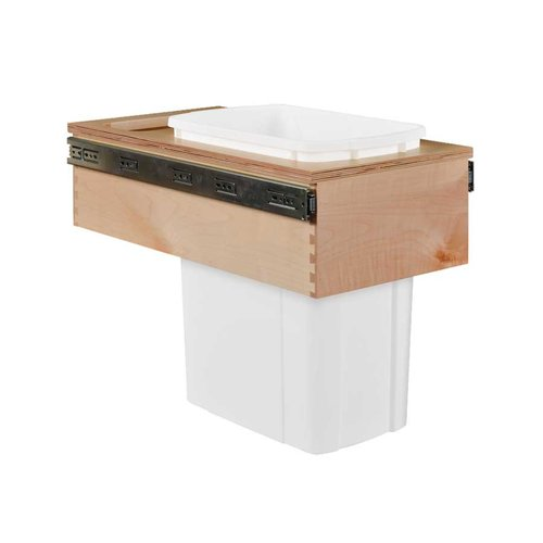 Century Components Single Trash Pullout 34 Quart Wood CASTM11PF