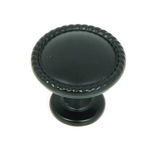 Stone Mill Hardware Palermo 1-1/4 Inch Diameter Matte Black Cabinet Knob CP3005-MB