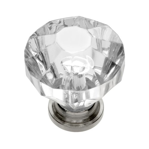 Crystal Palace 1-1/4 Inch Diameter Crystal Acrylic/Bright Nickel Cabinet Knob <small>(#HH74689-CA14)</small>