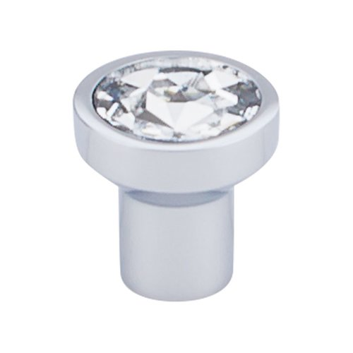 Top Knobs Barrington 1-1/8 Inch Diameter Crystal/Polished Chrome Cabinet Knob TK736PC