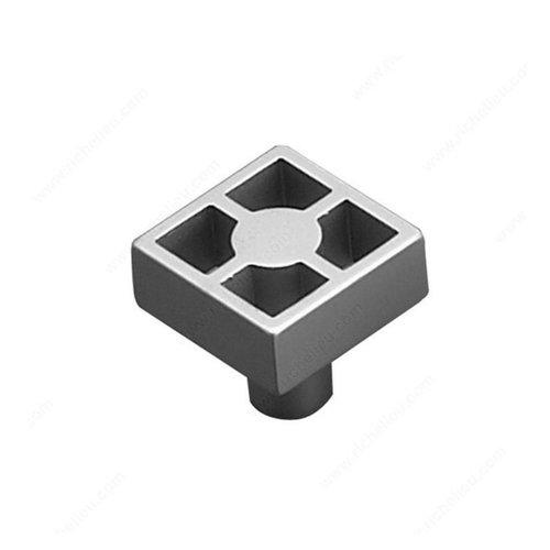 Richelieu Geometric 15/16 Inch Diameter Matte Chrome Cabinet Knob 61643924174