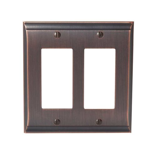 Amerock Candler Two Rocker Wall Plate Oil Rubbed Bronze BP36505ORB