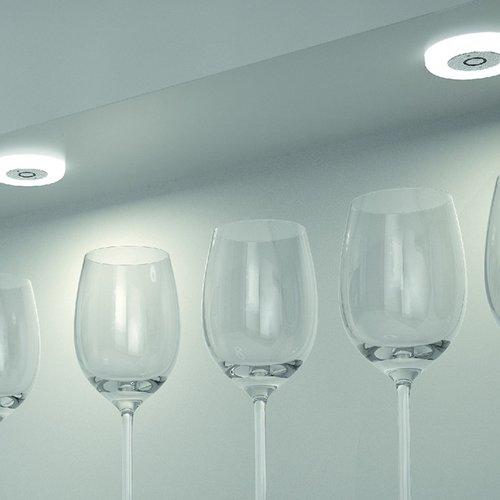Hafele Loox 2027 12V LED Frosted White Spotlight Cool White 833.72.051