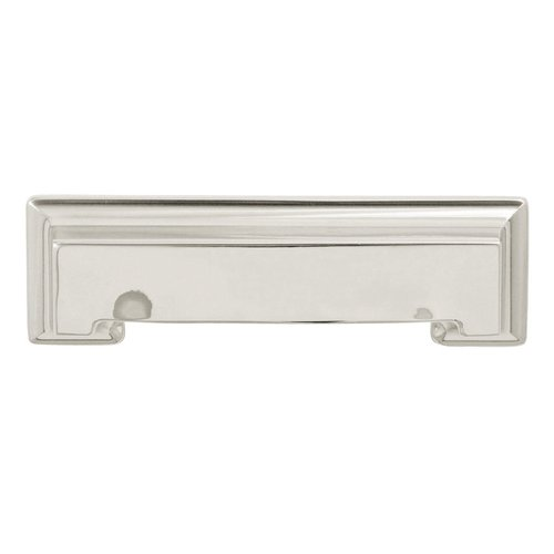 Hickory Hardware Studio 3-3/4 Inch Center to Center Bright Nickel Cabinet Pull P3013-14