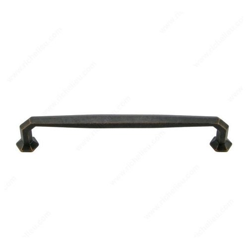 Traditional Cast Iron 8 Inch Center to Center Florentine Bronze Cabinet Pull <small>(#38878FB)</small>