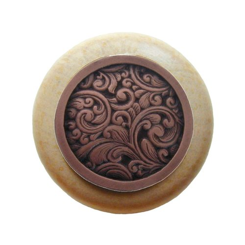 Notting Hill Classic 1-1/2 Inch Diameter Antique Copper Cabinet Knob NHW-759N-AC