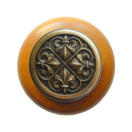 Notting Hill Olde World 1-1/2 Inch Diameter Antique Brass Cabinet Knob NHW-760M-AB