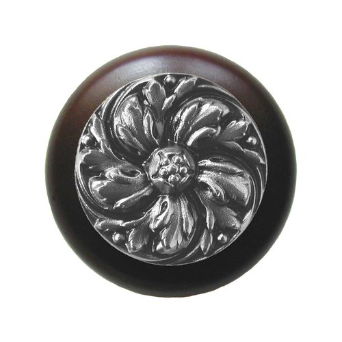 Notting Hill English Garden 1-1/2 Inch Diameter Satin Nickel Cabinet Knob NHW-714W-SN