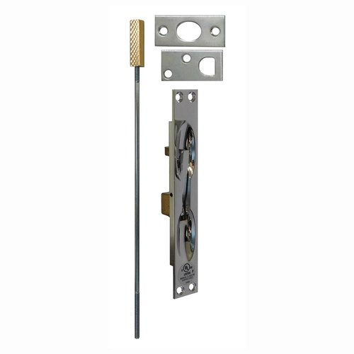 Don-Jo UL Rated Flush Bolt For Metal Doors Bright Chrome 1555-625