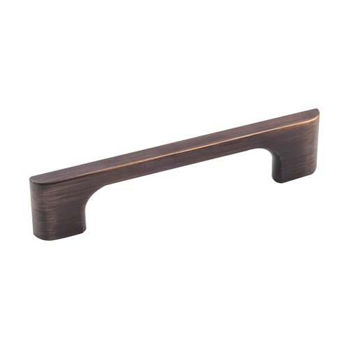Jeffrey Alexander Leyton Pull 3-3/4 inch Center to Center Brushed Oil Rubbed Bronze 286-96DBAC