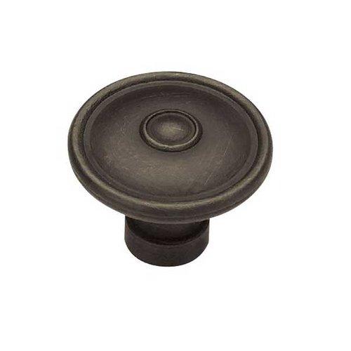 Liberty Hardware Rustique 1-1/2 Inch Diameter Distressed Oil Rubbed Bronze Cabinet Knob PN1310-OB-C