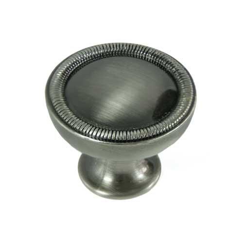 MNG Hardware Vanilla 1-1/4 Inch Diameter Satin Antique Nickel Cabinet Knob 17021
