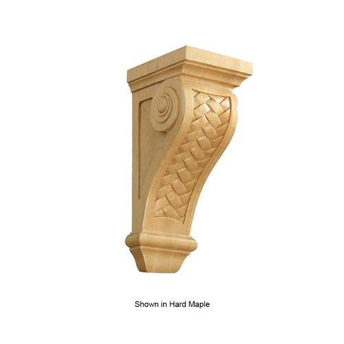 Brown Wood Large Weaved Corbel Unfinished Red Oak 01602570AK1