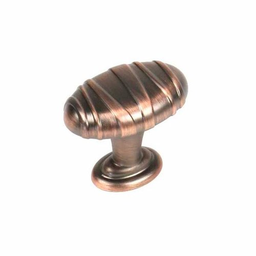 Century Hardware Mackinac 1-1/4 Inch Diameter Antique Bronze W/ Copper Cabinet Knob 28408-AZC