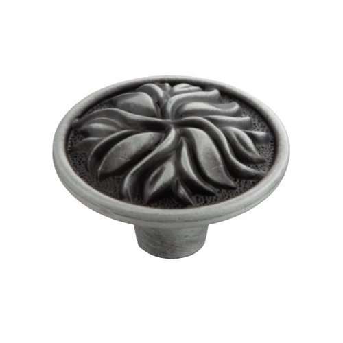 Hickory Hardware Mayfair 1-3/8 Inch Diameter Satin Pewter Antique Cabinet Knob P3093-SPA