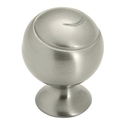 Amerock Swirl'Z 1-1/8 Inch Diameter Satin Nickel Cabinet Knob BP9338G10
