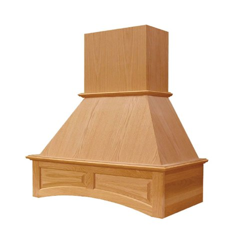 "Omega National Products 48"" Wide Arched Signature Range Hood-Hickory R2648SMB1HUF1"