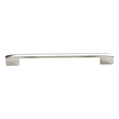 Schaub and Company Sorrento 6-5/16 Inch Center to Center Satin Nickel Cabinet Pull 313-15