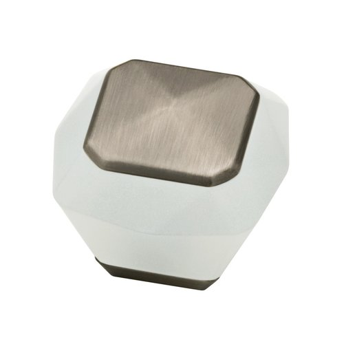 Liberty Hardware Kaley 1-3/8 Inch Diameter Frosted/Heirloom Silver Cabinet Knob P30236-FWS-C