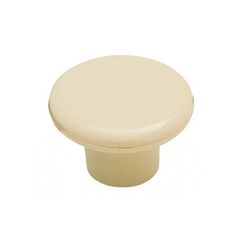 "Amerock Allison Value Hardware Knob 1-1/4"" Dia. Almond Plastic BP802PA"