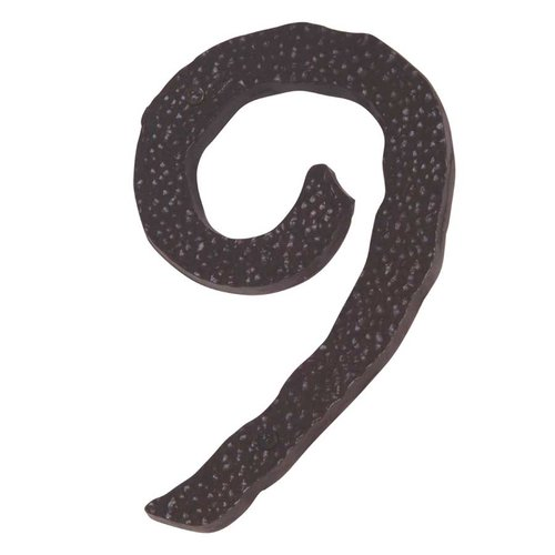 Atlas Homewares Hammered House Number Nine Aged Bronze HN9L-O